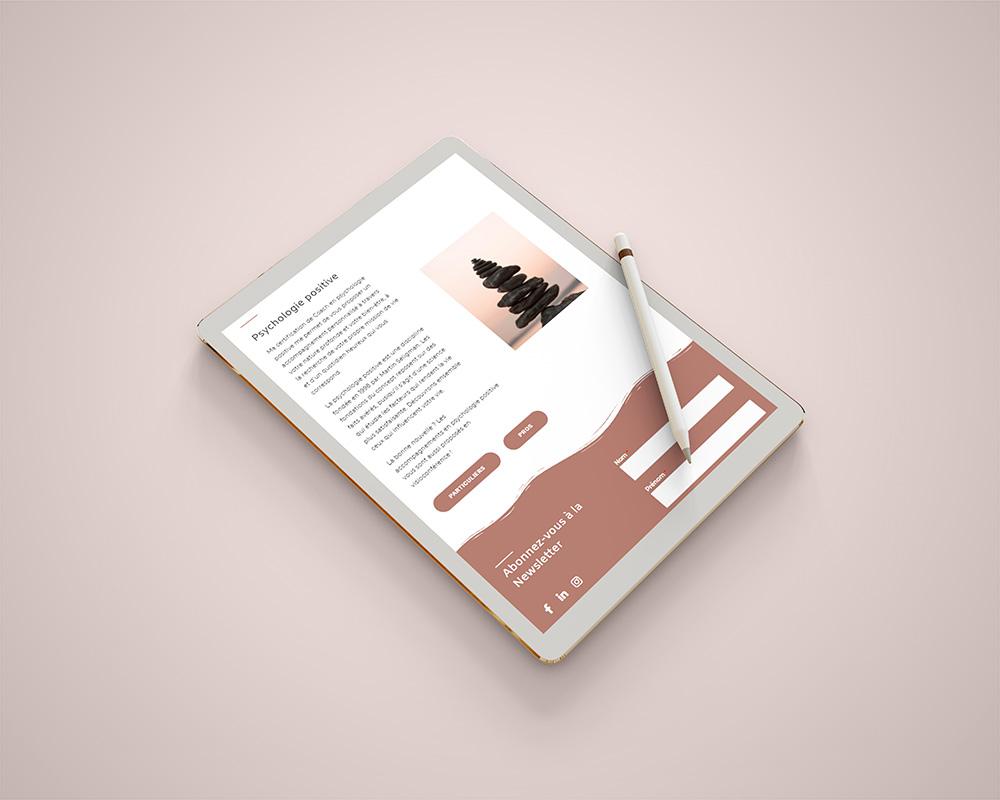 Création de site internet en freelance - Tablette - Human&Sens