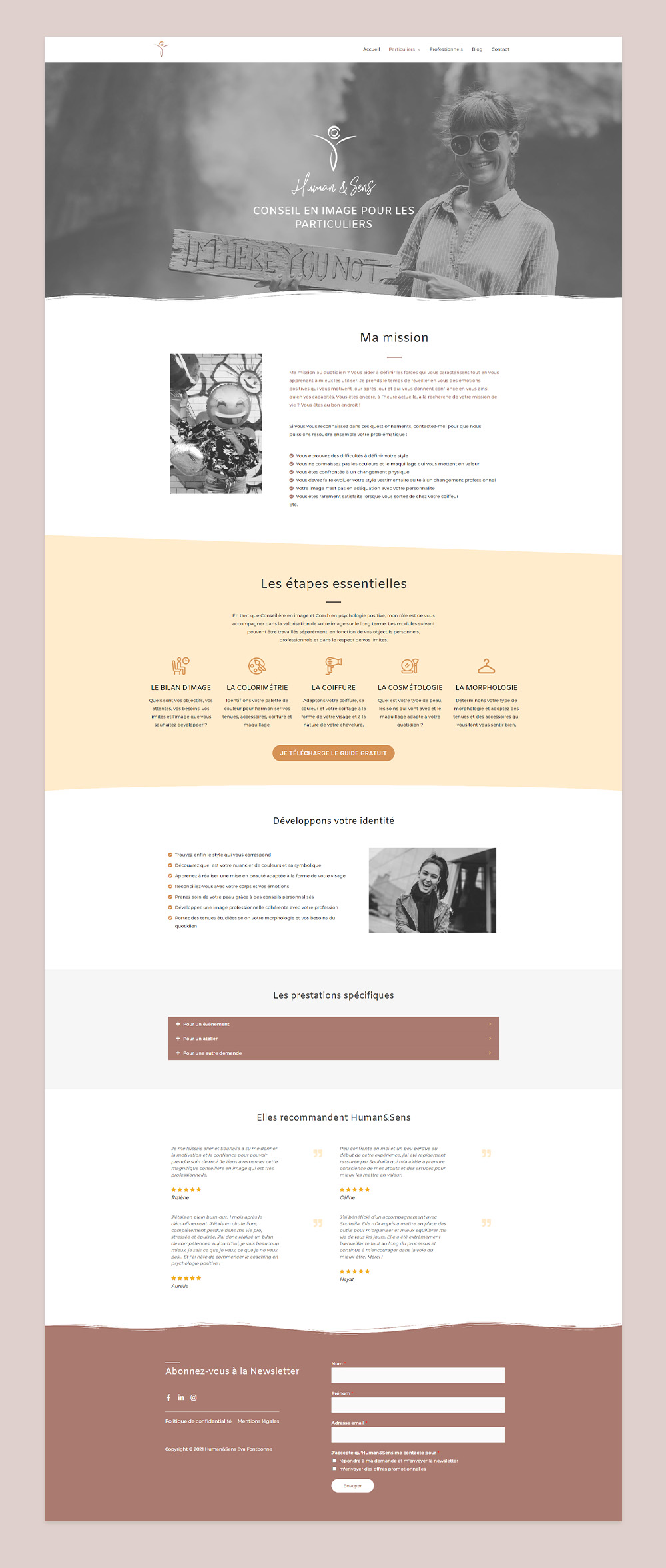Création de site internet en freelance - Human&Sens